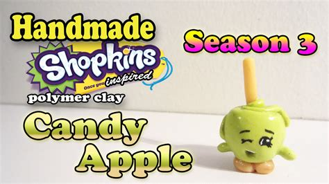 Season 3 Shopkins: How To Make Candy Apple Polymer Clay ...