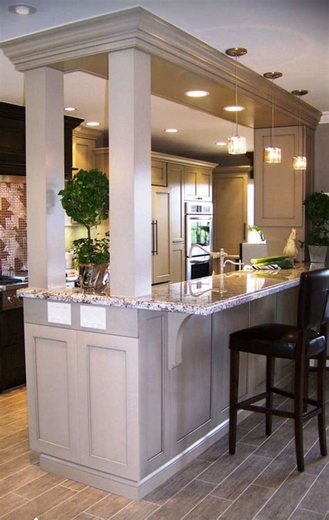 kitchen island columns island with support columns kitchen cupboards