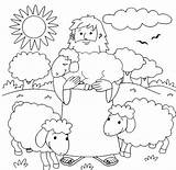 Coloring Shepherd Pages Am Sheep Lost Printable Parable Getcolorings sketch template