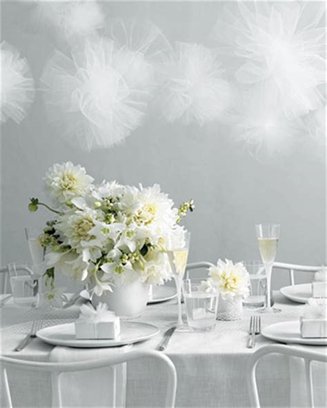 anatomy of a dinner 187 the white - Martha Stewart Wedding Decorations Tulle