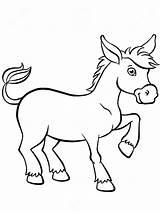 Donkey Burro Colorear Coloring Esel Ezel Leuke Animaux Stands Kleurende Pagina Animals Burrito Dieren Weinig Dibujos Cartoon Sveglio Coloritura Pagine sketch template
