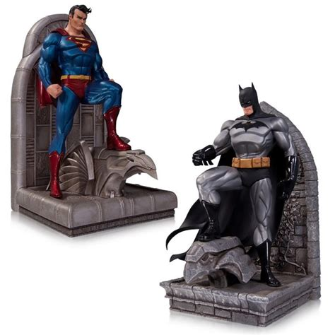 batman  superman bookends