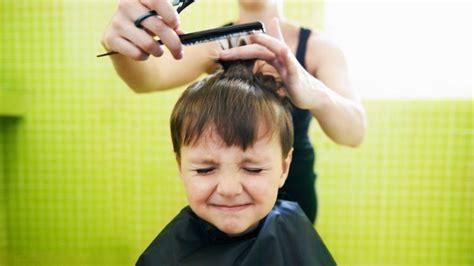 child hates   hair cut