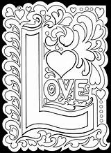 Coloring Pages True Adult Printable Valentine Adults Valentines Colouring Print Detailed Colour Printablee Yourself Theme Via Heart sketch template