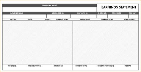 pay stub template pdf 8 fillable paycheck stub template secure paystub
