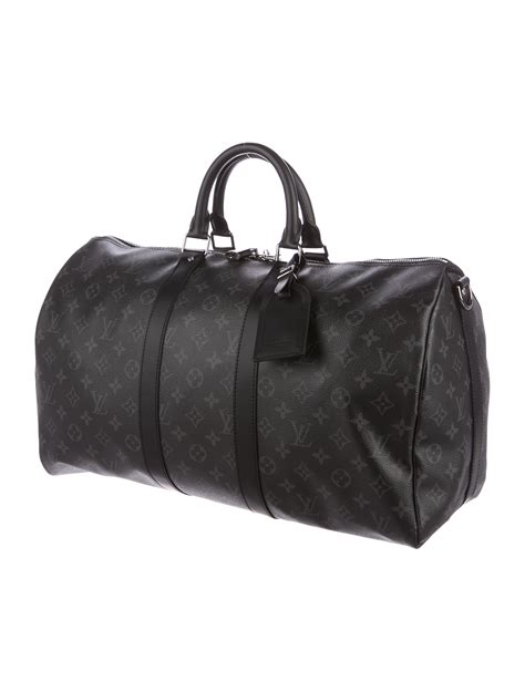 louis vuitton monogram eclipse keepall   tags bags