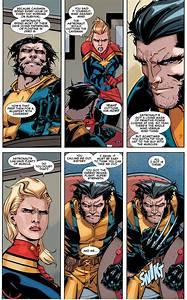 Wolverine And Captain Marvel Having A Debate Comicnewbies