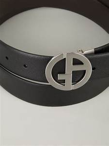 Giorgio Armani Logo Buckle Belt in Black for Men | Lyst