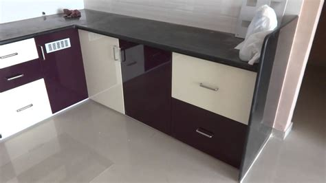 Color Kitchen Ideas - high gloss purple and colour modular kitchen in bharuch
