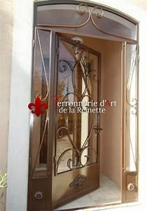 porte d39entree en fer forge a aix en provence ferronnier With porte d entrée en fer