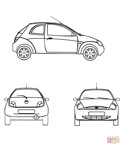 Ford Kleurplaat by Ford Ka Coloring Page Free Printable Coloring Pages