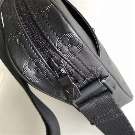 price louis vuitton  danube pm men shoulder bag monogram shadow black