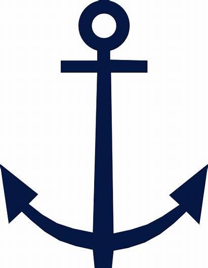 Anchor Clip Clipart Clker Vector Domain Symbol