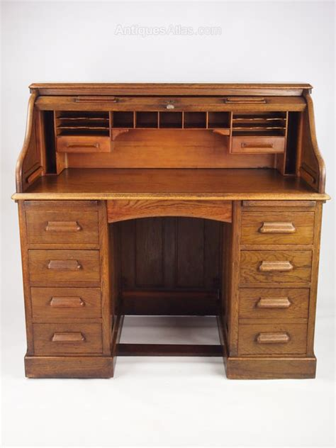 stock bureau direct antique oak roll top bureau desk by lebus antiques atlas
