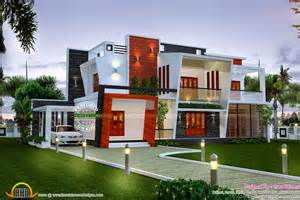 modern home house plans beautiful modern contemporary home kerala home design and floor plans