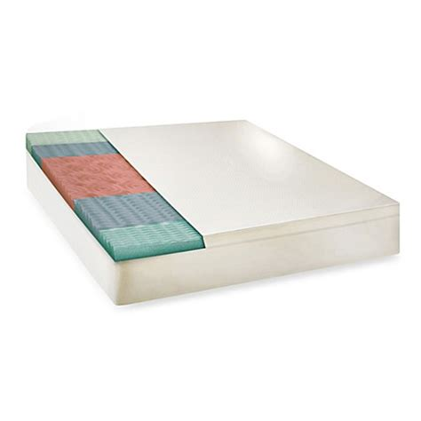 bed bath and beyond mattress topper buy therapedic 174 5 zone memory foam mattress topper from