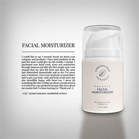Facial Moisturizer - Organic & Natural Ingredients Face