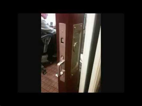 pocket door lock installation youtube