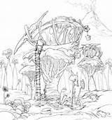 Coloring Tree Pages Magic Fairy Treehouse Printable Sheets Houses Concept Finished Lineart Dreamworks Getcolorings Templates Template sketch template