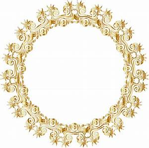 Gold Floral Flourish Motif Frame No Background Icons PNG ...