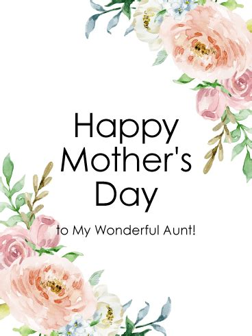 happy mothers day to my pink tulip happy mother s day card for aunt birthday greeting cards by davia