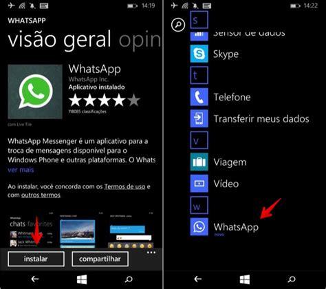 como instalar o whatsapp no lumia 535 dicas e tutoriais techtudo