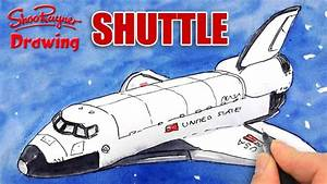 How to draw the Space Shuttle - YouTube