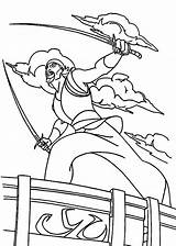 Sinbad Sword Pirate Coloring Simbad Printable Colorear Fight Seas Legend Spirit Template Dibujo Seven Coloringpages Korra Cartoons Fire Sailor Dibujos sketch template