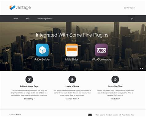 vantage  wordpress theme  slider themeshakercom