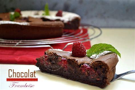 fondant chocolat noir et framboises recette de cuisine
