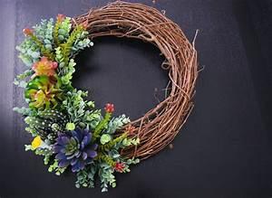 Diy, Succulent, Wreath