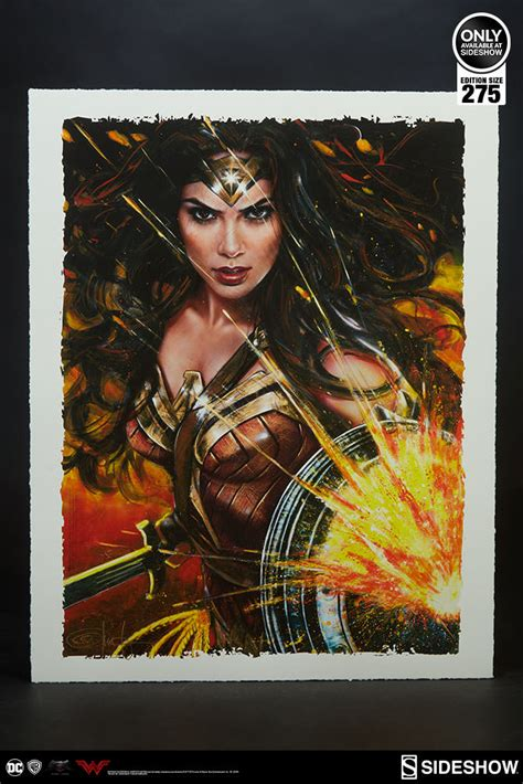 Dc Comics Wonder Woman Art Print By Ozone Productions