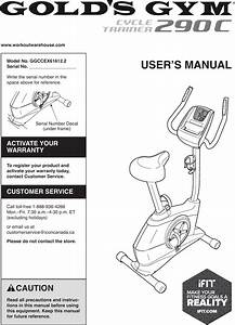 Golds Gym Ggccex616122 Owners Manual