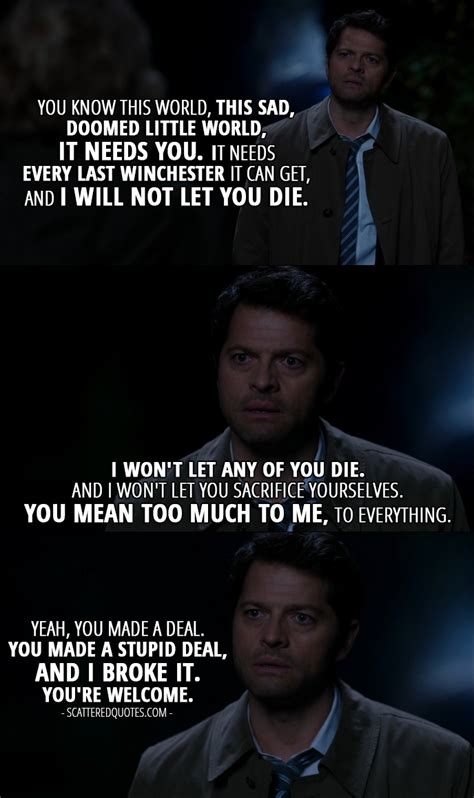 Castiel Quotes 12 Best Supernatural Quotes From Blood 12x09
