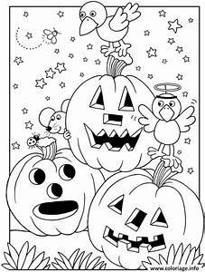 Dessin Facile Halloween : coloriage halloween maternelle facile citrouilles ~ Melissatoandfro.com Idées de Décoration