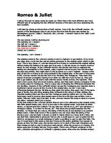 romeo and juliet play script modern comparing two versions of romeo juliet zefferelli and