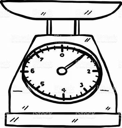 Scale Scales Clipart Kitchen Drawing Balance Weighing