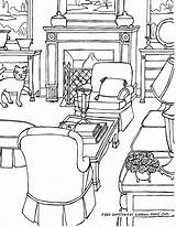 Drawing Coloring Perspective Adults Adult Rooms Step Drawings Fredgonsowskigardenhome sketch template