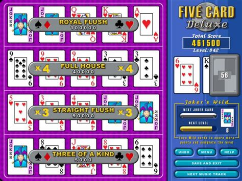 Five Card Deluxe, Free Download Five Card Deluxe Card Game
