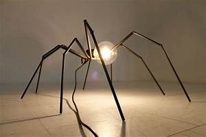 brutalist spider floor or table lamp circa 1970s at 1stdibs With chandelier spider floor lamp