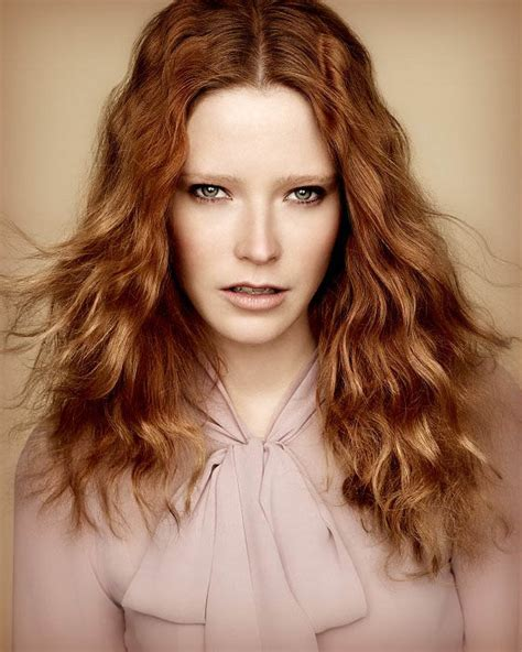 red fine wavy hair  latest trends  womens