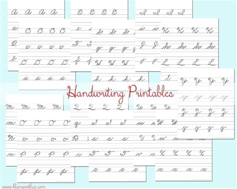 Cursive Handwriting Practice Sheets #backtoschoolweek  Kleinworth & Co