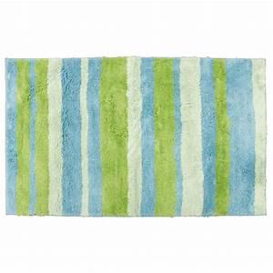 tapis de salle de bain en microfibre 70 x 120 cm bleu With tapis bleu et vert