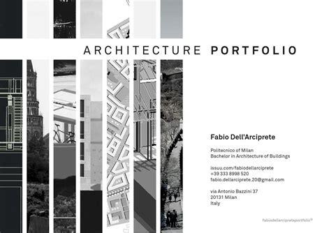 Architecture Portfolio By Fabio Dell'arciprete