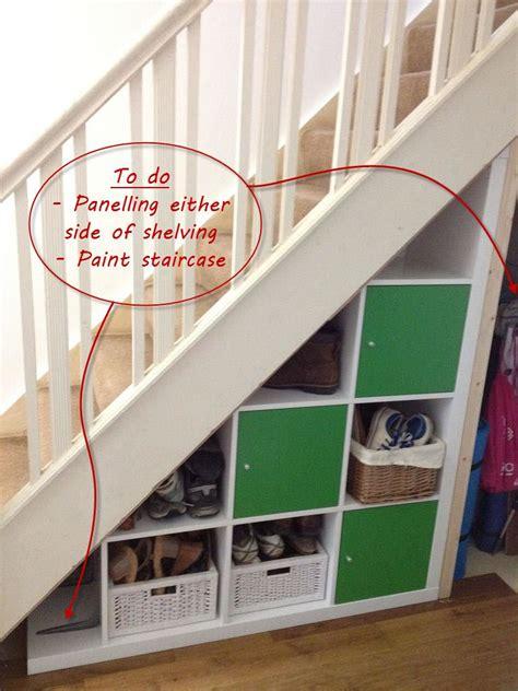 Garderobe Unter Offener Treppe by Expedit Stairs Storage N 252 Tzliches Ordnung