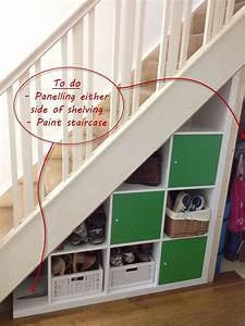 Stauraum Unter Treppe Ikea : expedit under stairs storage n tzliches ordnung schaffen pinterest treppe ikea ideen ~ Markanthonyermac.com Haus und Dekorationen