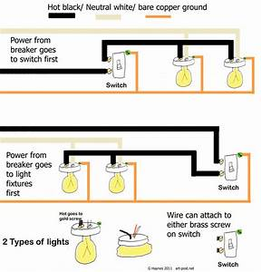 Solved  I Have Two Lights And One Switch Power - Light