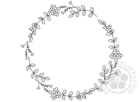 floral circular embroidery pattern flowers templates