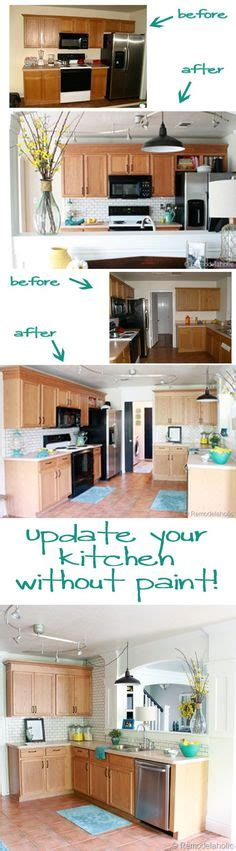 painting kitchen backsplash 5 ideas update oak cabinets without a drop of paint 1394