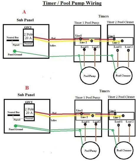 Ground Pool Pump Timer Wiring Doityourself